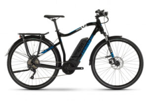 velo tout chemin electrique Haibike Sduro Trekking 3.0 Shimano Deore 10V 500 Noir / Bleu 2020