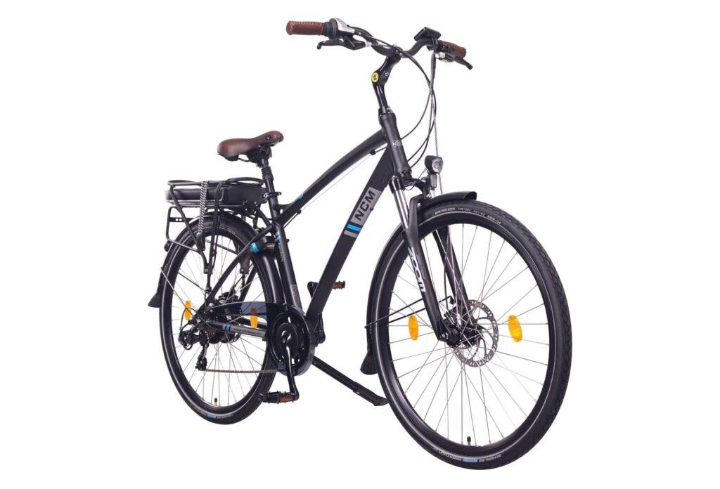 vélo de ville électrique NCM Hamburg 28 Noir 2020 ne laisse personne indifférent