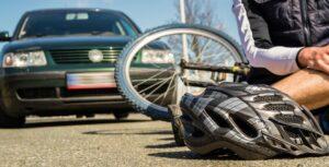 Accident de vélo et casque