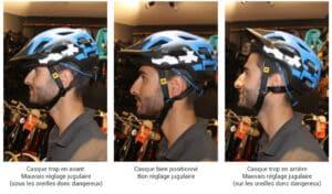 Positions du casque velo