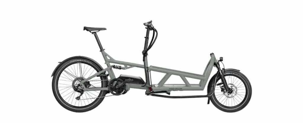 Vélo cargo électrique RIESE & MULLER LOAD 60 TOURING - 500WH - INTUVIA - VERT MILITAIRE