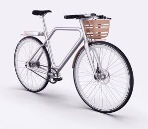 Angell bike avec son panier