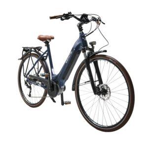 """Vélo de ville électrique WAYSCRAL Everyway E450 T53 28"""" Bleu"""