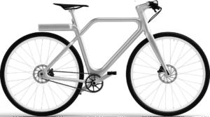 Vélo électrique Angell Bike argenté